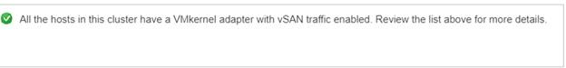 configure vsan-Success messange