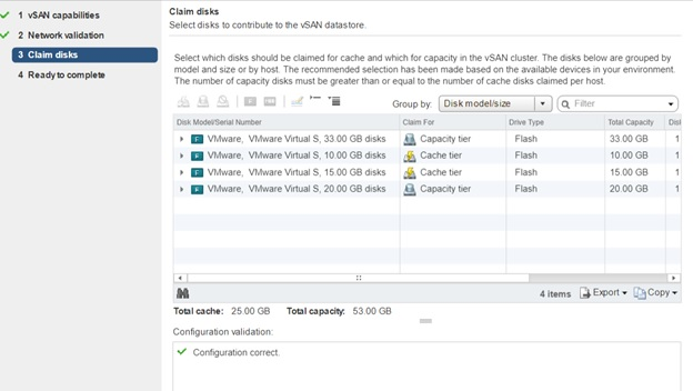 configure vsan chain disk