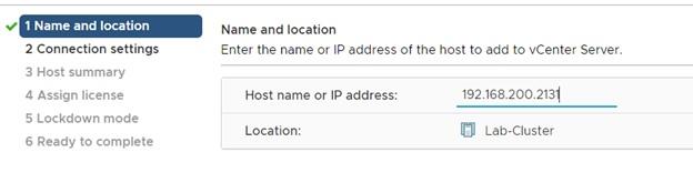 enter host Ip